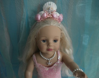 Doll Size Tiara or Crown and Wand fits 18 inch American Girl