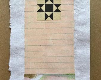 Improvisational Collage Quilt