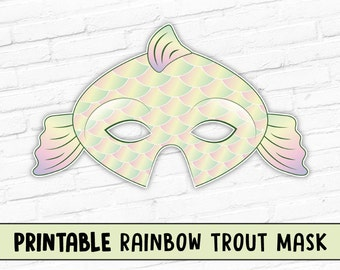 Brook Trout Mask Green Fish Photo Prop