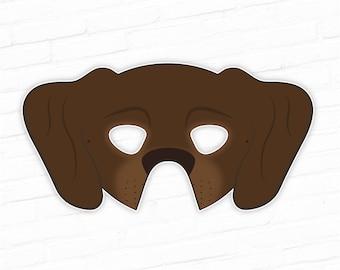 photo regarding Printable Dog Masks named Golden Retriever Printable Pet dog Mask Cocker Spaniel Mask Etsy