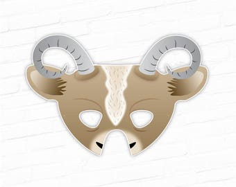 Goat Printable Mask Nativity Halloween Farm Animal Masks Set Costume Lunar New Year Of The