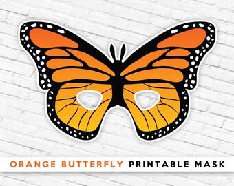 Grasshopper printable mask printable bug mask green etsy orange butterfly printable mask butterfly mask kids bug mask summer pretend play maxwellsz