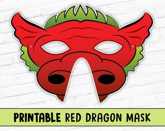 Red Dragon Printable Mask
