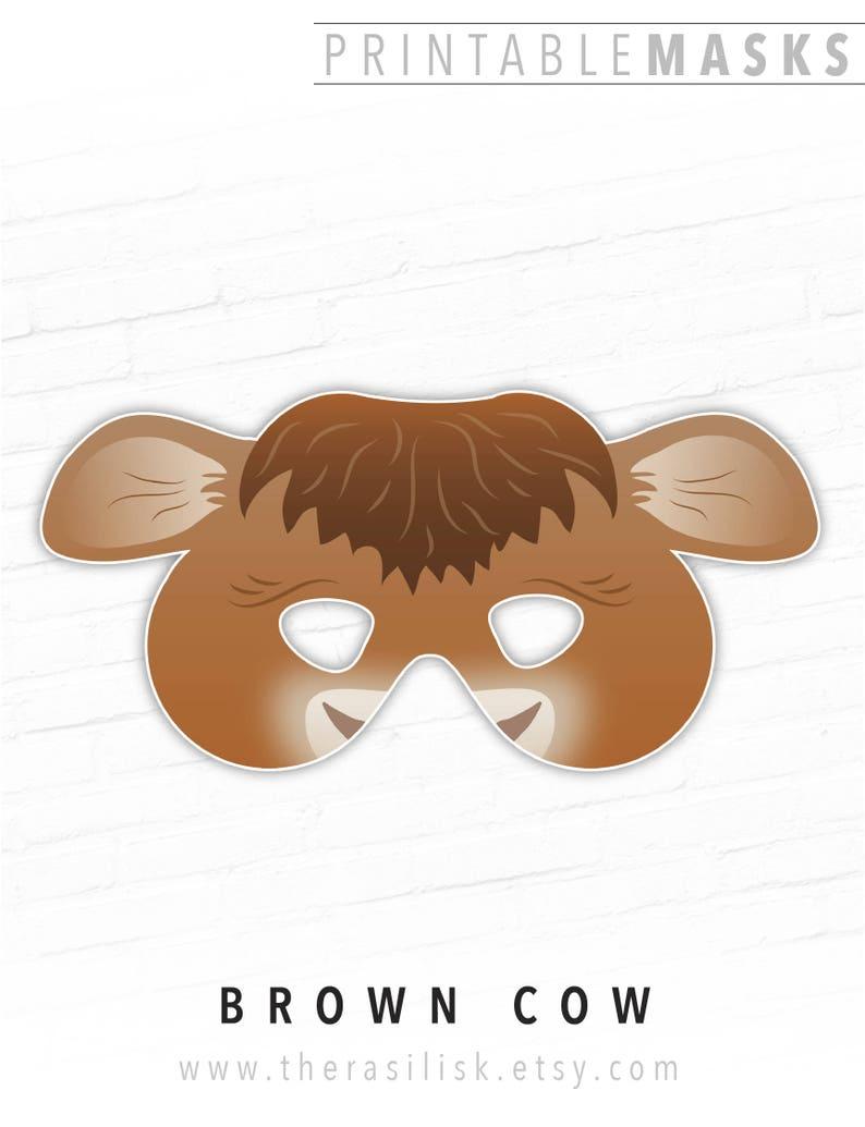 Printable Cow Mask, Brown Cow Costume, Printable Nativity Mask, Farm  Animal, Cow, Heifer, Animal Mask, Halloween Mask, Nativity Set Costume