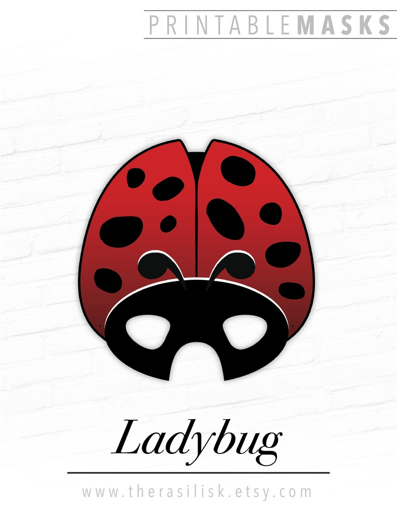 graphic about Ladybug Printable titled Ladybug Printable Insect Mask, Ladybird, Crimson Beetle Printable Gown Prop, Theater, Enjoy, Picture Booth, Birthday Occasion, Halloween, Marriage ceremony