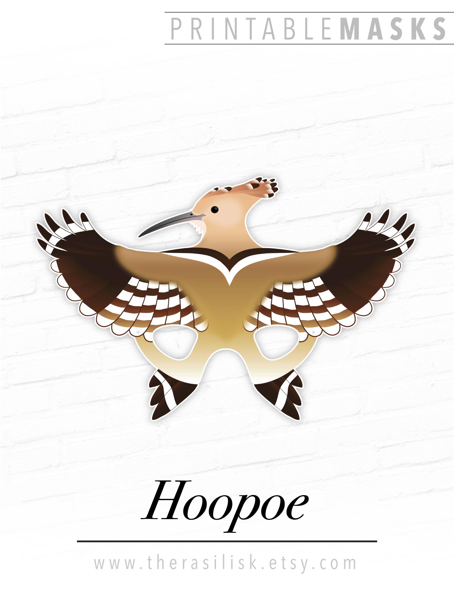 Hoopoe Mask Bird Masks Printable Bird Mask Hoopoe Printable