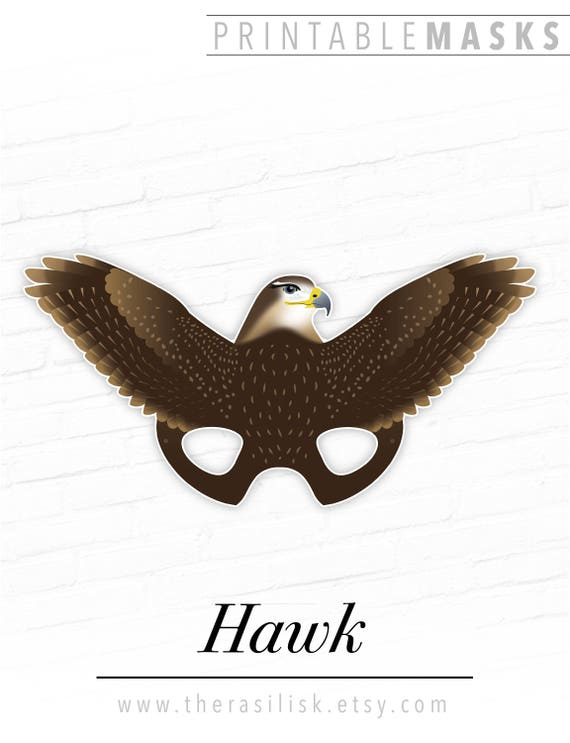 how to make a paper hawk mask