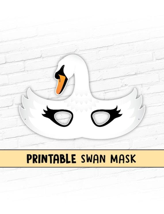 Swan Printable Mask White Goose Mask Printable Halloween   Etsy