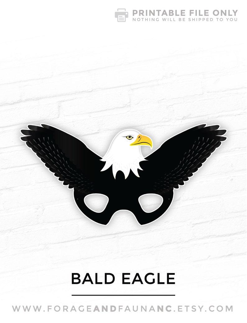 Bald Eagle Mask, Eagle Mask, Bird Mask, Patriotic Mask, 4th of July Mask,  America Mask, Halloween, Printable Mask, Animal Mask, Photo Prop