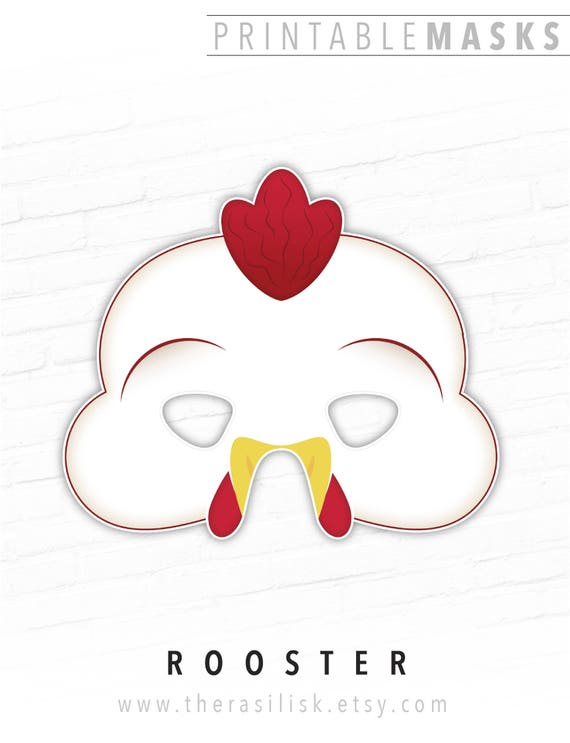Halloween Mask Printable Chicken Rooster