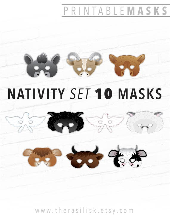 Nativity Set Costume Living Masks Barnyard Animals