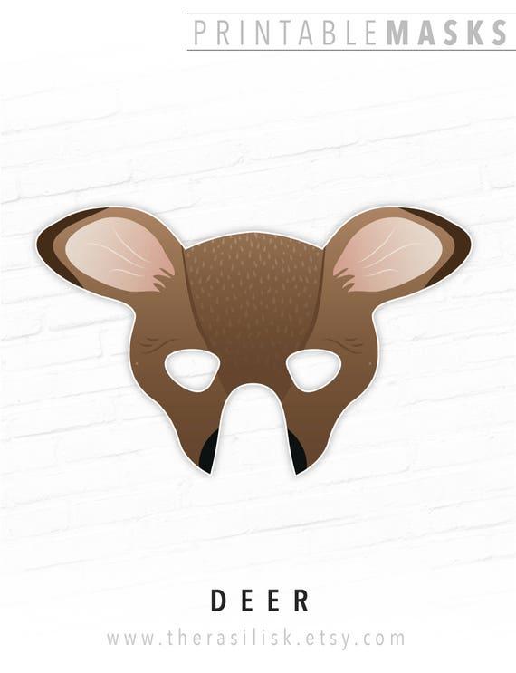 graphic relating to Mask Printable referred to as Printable Deer Mask, Printable Doe Mask, Printable Animal Mask, Woodland Animal Mask, Masquerade, Birthday Celebration, Bambi Mask, Halloween Mask