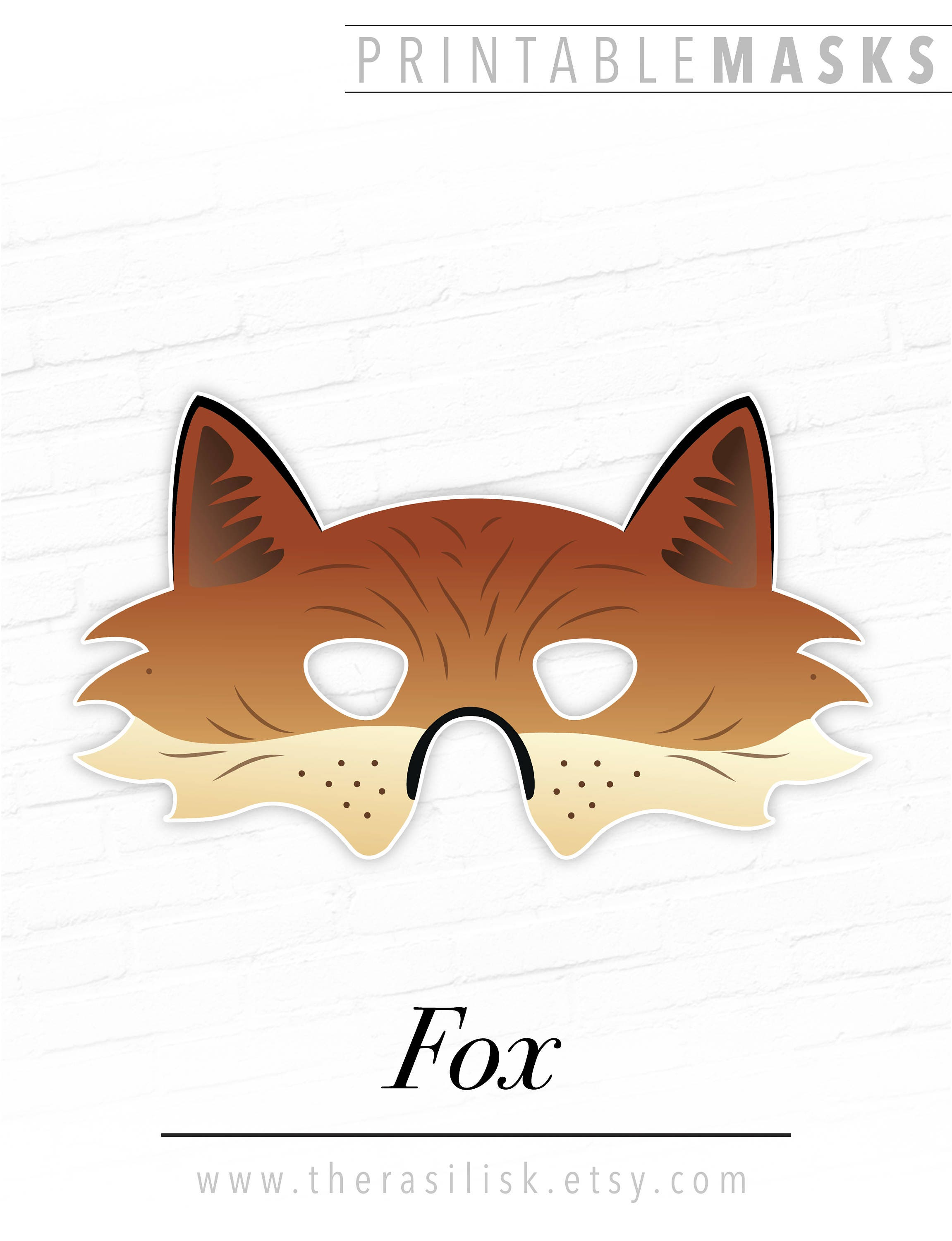 It's just an image of Remarkable Printable Fox Mask