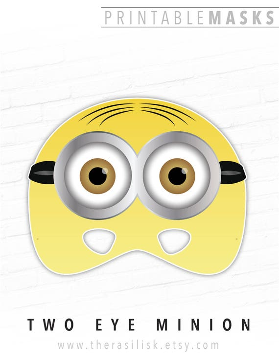 photo about Printable Minion Face called Halloween Mask, Paper Masks, Printable Mask, Minion Mask, 2 Eye Minion, Video clip Mask, For Small children, Cartoon, Yellow, Events, Picture Booth, Small children