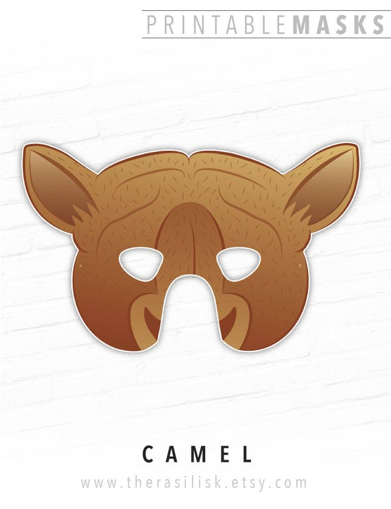 Printable Animal Mask Camel Printable Mask Paper Masks Etsy