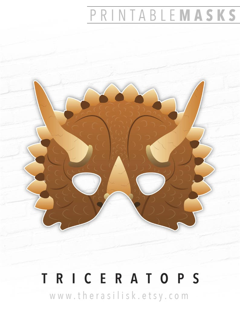 photograph relating to Printable Masks named Printable Masks, Halloween, Dinosaur, Triceratops, Dino Mask, Playtime Mask, Cera, Halloween Mask, Social gathering, Picture Booth Prop, Straightforward Gown