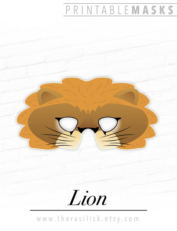 picture regarding Printable Lion Mask called Printable Lion Mask, Jungle Occasion Mask, Lioness, Printable Animal Masks, Circus Mask, Photograph Booth Prop, Wild Cat Gown, King