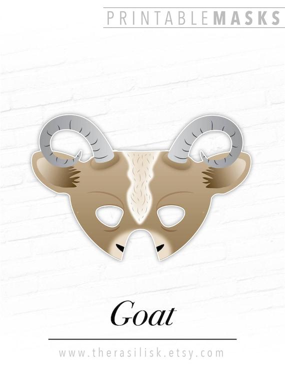 Goat Printable Mask Nativity Mask Printable Halloween Mask   Etsy