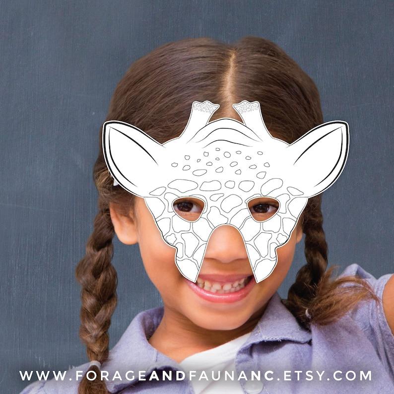 Giraffe Mask Printable Coloring Mask Fun Activity Page ...