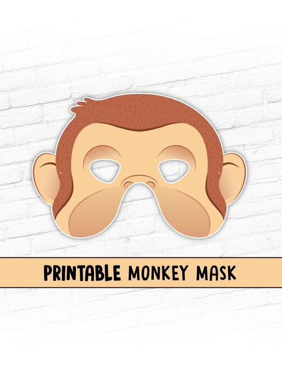 Good NEW Monkey Printable Halloween Mask Curious George Costume