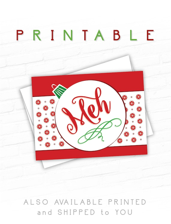 Printable christmas greeting cards holiday cards meh etsy image 0 m4hsunfo