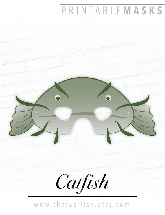 Catfish Mask Printable Fish
