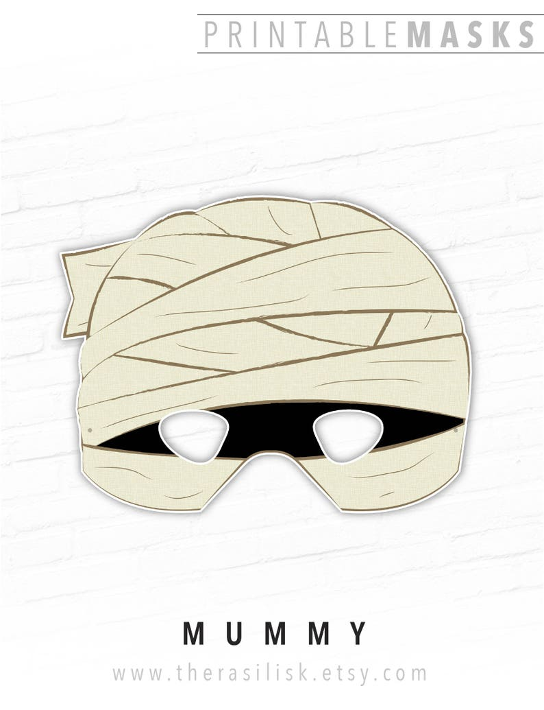 image about Mummy Printable identified as Halloween Mask, Printable Mask, Mummy Mask, Monster, Paper Mask, Egypt, Video Mask, Daunting, Prompt Down load, Picture Booth Props, For Children