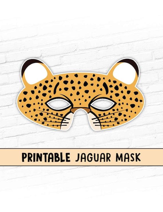 Jaguar printable mask kids party halloween costume mask etsy image 0 maxwellsz