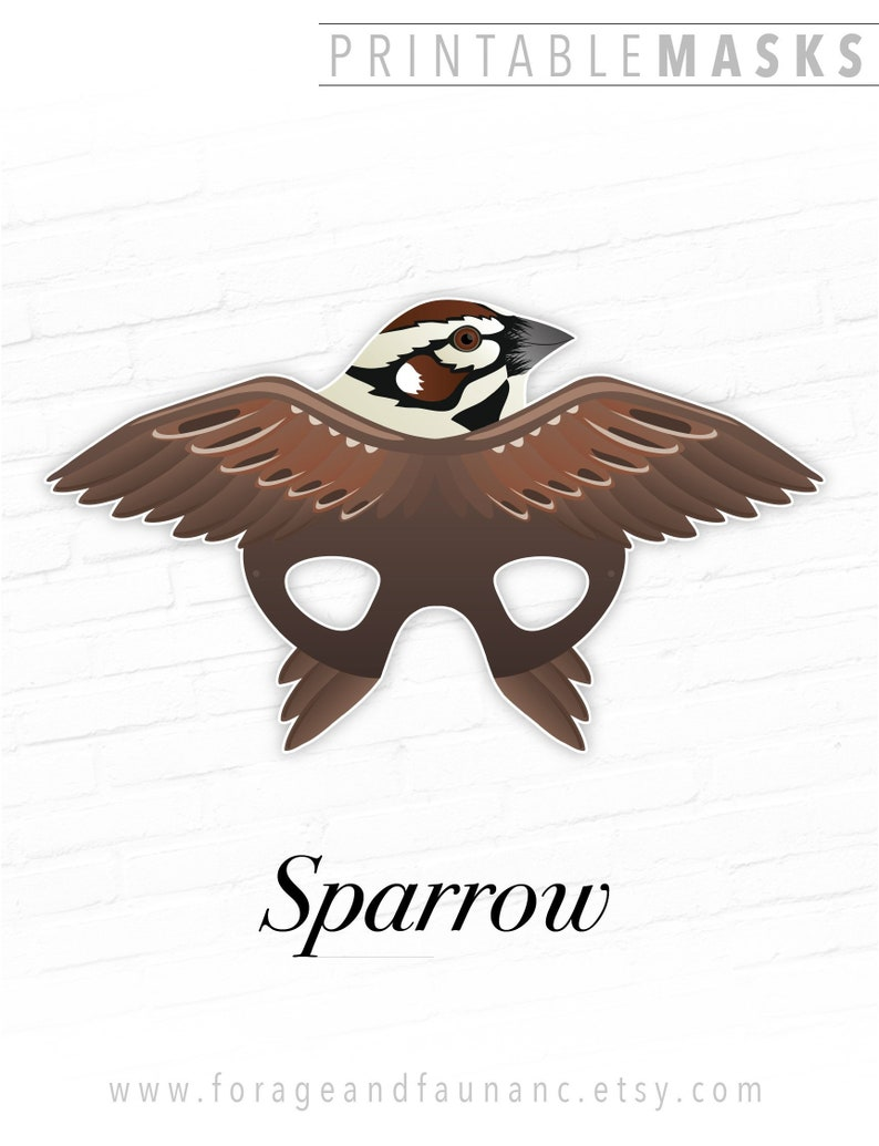 photograph regarding Bird Printable titled Printable Fowl Mask, Sparrow Printable Mask, Animal Masks, Chook Masks, Room Sparrow Dress, Outdated World-wide Sparrow, Image Booth Prop, Enjoy Prop