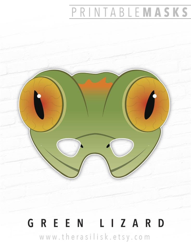photograph regarding Printable Haloween Masks known as Printable Halloween Mask, Lizard Mask, Gecko Printable Mask, Inexperienced Lizard, Picture Booth Props, Reptile Mask, Social gathering, Paper Mask, Animal Mask