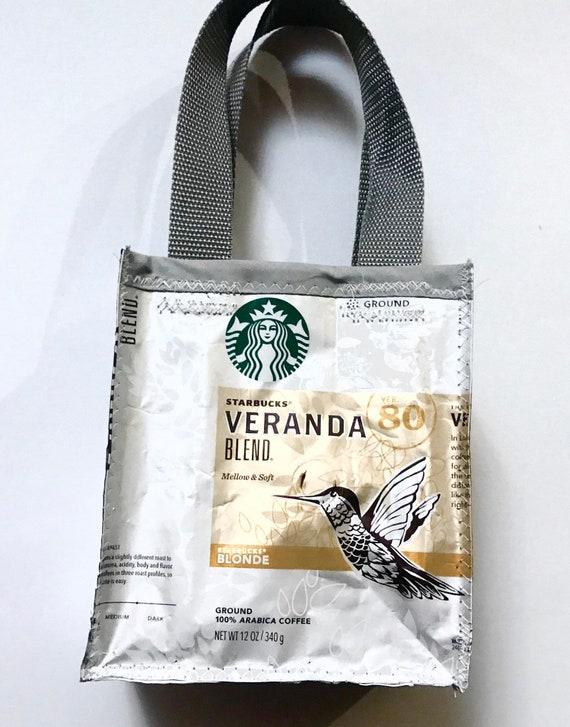 Coffee Bag Purse Recycled Coffee Bag Starbucks Purse Etsy