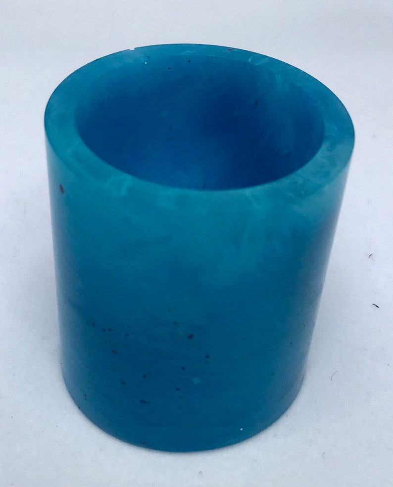 Resin shot glass small resin cup taper candle holder mini image 0