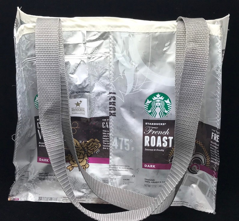 recycled coffee bags Starbucks coffee eco friendly purse image 0
