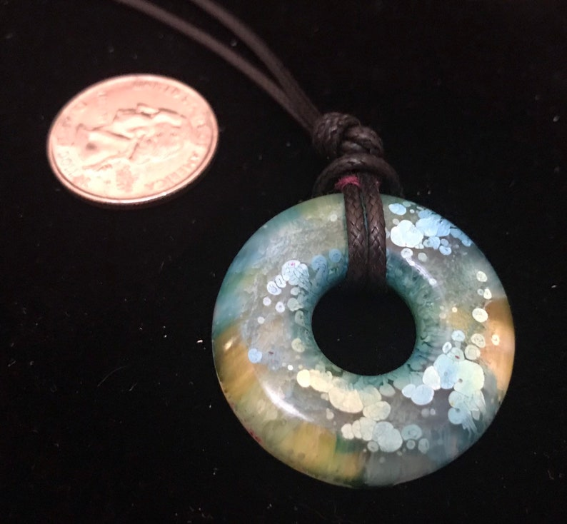 Resin alcohol ink statement pendant colorful pendant resin image 0