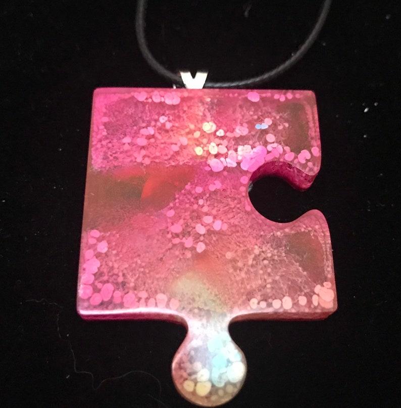 Puzzle piece pendant statement pendant puzzle necklace image 0