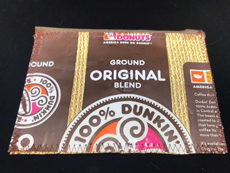 Coffee lovers gift dunkin donuts recycled coffee bags image 0