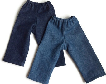 """Doll jeans for 10"""" to 18"""" doll, including 14.5"""" girl doll, 15"""" baby or twin doll, 10"""" 13"""" 15"""" bamboletta doll"""