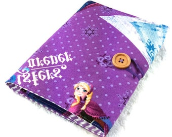 Purple crayon wallet, Frozen sister Anna Elsa, girl crayon wallet, crayon organizer, child art portfolio, crayon roll, girl stocking stuffer
