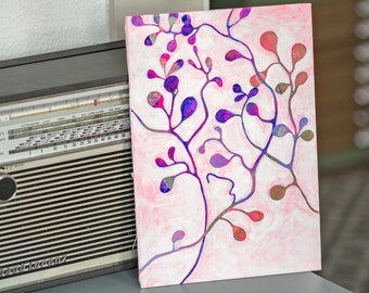 Original Painting Muehlenbeckia. Acrylic Painting. Nature Art. Botanical Art. Tree Branch. Gift for her. Small Painting. Office Decor.