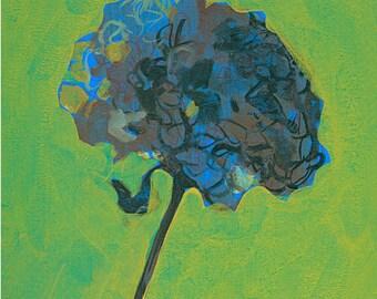 Hydrangea, print, wall decoration, plant art, nature decoration, wall hanging, art print, flower, botanical art,