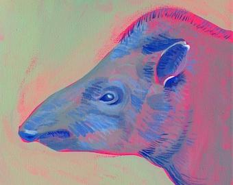 Lowland Tapir (print)