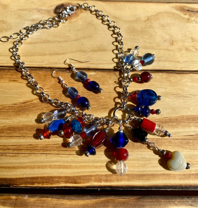 Reds and Blues necklace