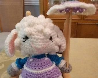 Amigurumi Lamb in Pinafore with Parasol