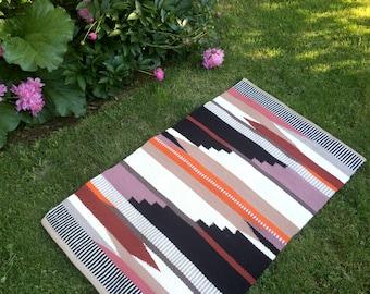 Hand Woven Wool Rug: The Tabor Summer in Orange