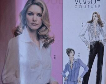 "Vogue 2691 Vogue Couture Sewing Pattern Misses' Suit Jacket Lace Blouse Skirt and Pants UNCUT Factory Folds Sizes 6-8-10 Bust 30.5-32.5"""