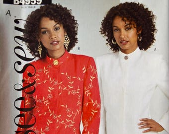 """Butterick See & Sew 4959 Easy Sewing Pattern Misses' and Petite Unlined Jacket in Two Lengths UNCUT Factory Folds Sizes 8-14 Bust 31.5-36"""""""