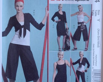 McCall's 5144 Sewing Pattern Misses' Jacket Top Dress Gauchos and Pants Easy Endless Options Stretch Knits UNCUT FF Sizes XS-S- M