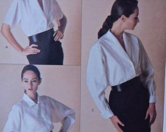 2d6cfe97fc66b Vintage 1980s Perry Ellis Sewing Pattern Vogue 2091 Misses  Blouse w   Collar Variations American Designer UNCUT Factory Folds Sizes 8-10-12