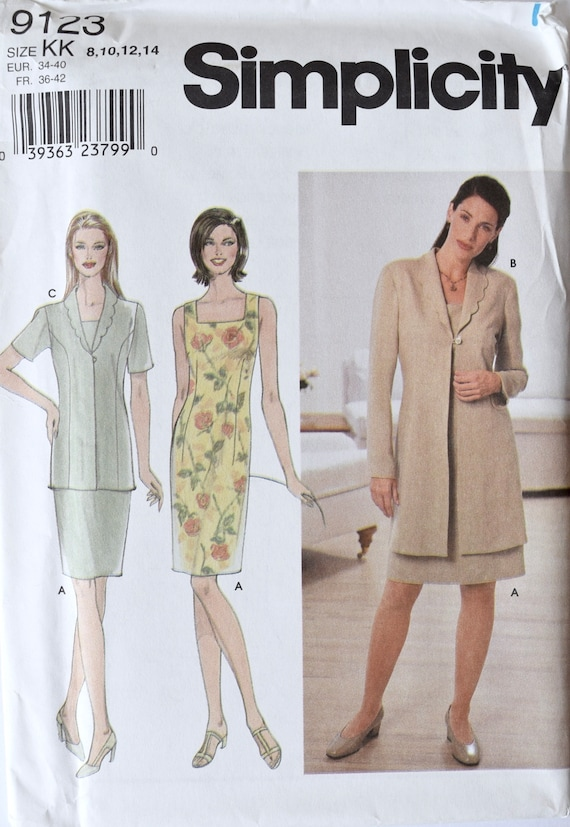 4565 UNCUT Vintage Butterick SEWING Pattern Misses Semi fitted Dress OOP FF SEW