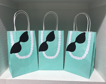Robins Egg Blue Party Bags